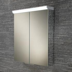 HIB Flare LED Aluminium Bathroom Cabinet with Mirror Sides