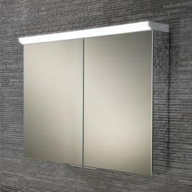 HIB Ember 80 LED Aluminium Bathroom Cabinet with Mirror Sides