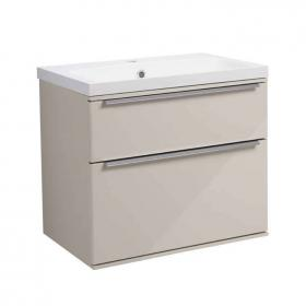 Roper Rhodes Scheme 600mm Gloss Calico Wall Mounted Vanity Unit & Basin