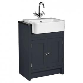 Roper Rhodes Hampton 600mm Slate Grey Semi Countertop Unit & Basin