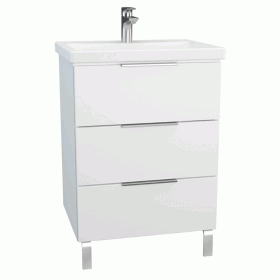 Vitra Ecora 60cm 3 Drawer Washbasin Unit With Legs