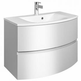 Bauhaus Svelte White Gloss 80 Vanity Unit & Basin