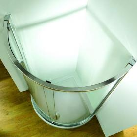 Kudos Original Curved 910mm Side Access Sliding Door & Shower Tray