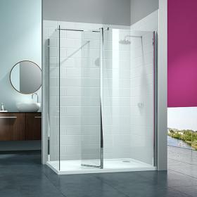 Merlyn 8 Series Walk In Shower With Swivel Panel