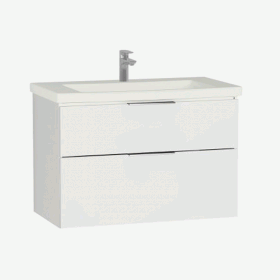 Vitra Ecora 90cm 2 Drawer Washbasin Unit