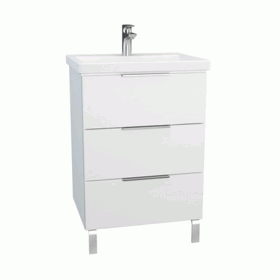 Vitra Ecora 90cm 3 Drawer Washbasin Unit With Legs
