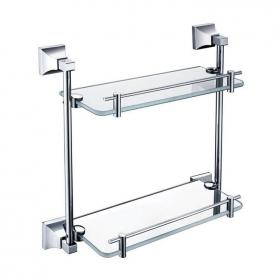 Heritage Chancery Chrome Double Glass Shelf