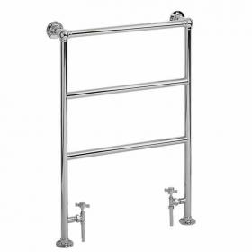 Heritage Victorian Heated Towel Rail Chrome Finish