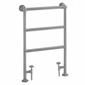 Heritage Portland Heated Towel Rail Chrome Finish