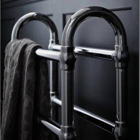 Heritage Oakham Heated Towel Rail Chrome Finish
