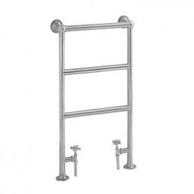 Heritage Portland Cloakroom Heated Towel Rail Chrome Finish