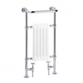 Heritage Clifton Wall Hung Heated Towel Rail Chrome Finish