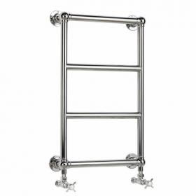 Heritage Portland Wall Mounted Heated Towel Rail Chrome Finish
