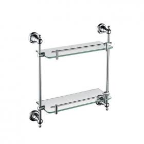 Photo of Heritage Holborn Chrome Double Glass Shelf