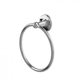 Photo of Arcade Wall Mounted Towel Ring Chrome Finish