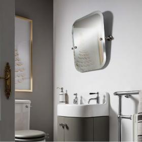 Photo of Arcade Rectangular Swivel Mirror Chrome Finish