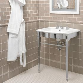 Imperial Adare Westminster 685mm Basin & Chrome Basin Stand
