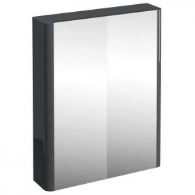Photo of Aqua Cabinets Compact 600mm Anthracite Mirror Cabinet