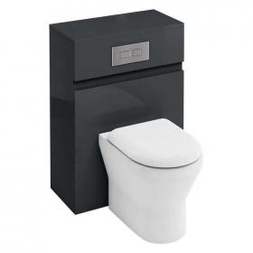 Photo of Aqua Cabinets Anthracite 600mm Back To Wall WC Unit, Cistern & Flush Plate