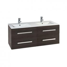 Photo of Frontline Aquatrend Avola Grey 1200mm Vanity Unit & Double Basin