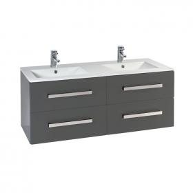 Photo of Frontline Aquatrend Matt Indigo 1200mm Vanity Unit & Double Basin