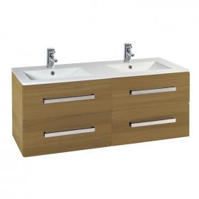 Photo of Frontline Aquatrend Modern Oak 1200mm Vanity Unit & Double Basin