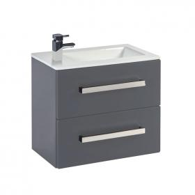 Frontline Aquatrend Dust Grey 550mm Wall Hung Vanity Unit