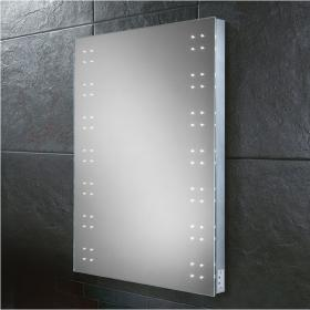 HIB Ariel LED Bathroom Mirror with Charging Socket
