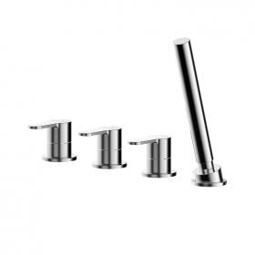 Photo of Asquiths Sanctity Deck Mounted 4 Tap Hole Bath Shower Mixer