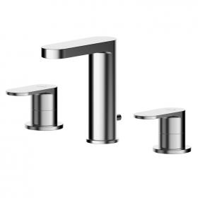 Asquiths Solitude Deck Mounted Three Tap Hole Basin Mixer