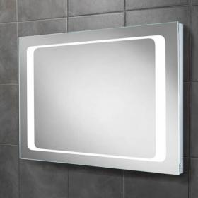 HIB Axis LED Bathroom Mirror with Charging Socket