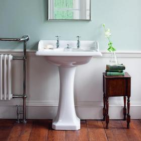 Photo of Burlington Classic Basin with Invisible Overflow and Pedestal