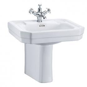 Burlington Victorian Medium 560mm Basin & Semi Pedestal