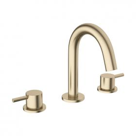 Photo of Crosswater MPRO Brushed Brass Deck Mounted Basin 3 Hole Set
