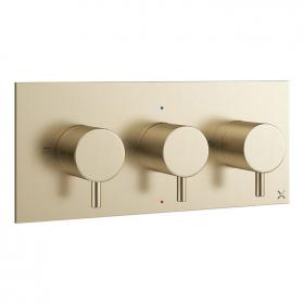 Crosswater MPRO Brushed Brass Landscape Thermostatic Shower Valve