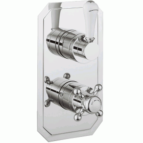 Crosswater Belgravia Crosshead 1000 Thermostatic Shower Valve - Slimline Backplate