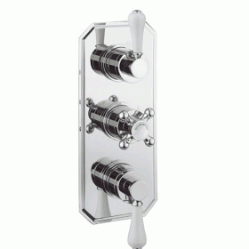 Crosswater Belgravia Lever 3000 Shower Valve 3 Way Diverter - Slimline Plate