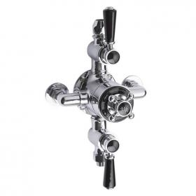 Hudson Reed Topaz Black Triple Exposed Shower Valve