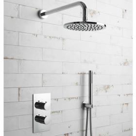 Photo of BagnoDesign Koy Chrome Fixed Head Shower Pack with Handset