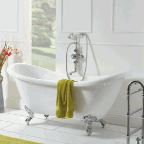 Photo of Phoenix  Bainbridge 1750 x 720mm Double Ended Slipper Bath