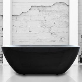 Charlotte Edwards Belgravia Black 1690mm Freestanding Bath
