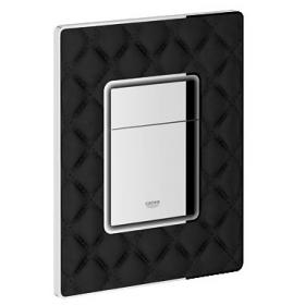 Grohe Skate Cosmopolitan Black Quilted Leather Flush Plate