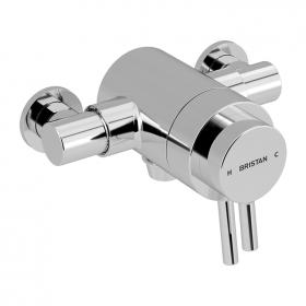Photo of Bristan Prism Exposed Dual Control Bottom Outlet Shower Valve