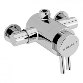 Photo of Bristan Prism Exposed Dual Control Top Outlet Shower Valve