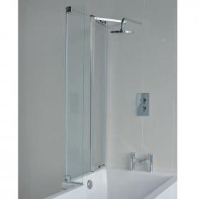 Britton Cleargreen Ecosquare Bath Screen with Fixed Panel
