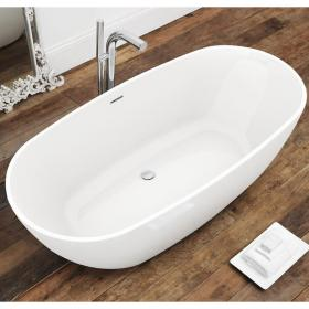 Waters I-Line Brook2 1660mm Freestanding Bath