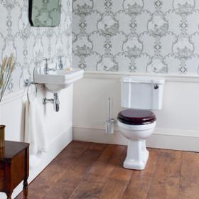 Burlington Edwardian Cloakroom Toilet & Basin Set