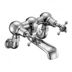 Burlington Claremont Wall Mounted Bath Filler with Black Indices