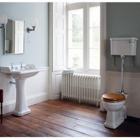 Burlington Classic Square Toilet & Basin Set