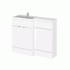 Hudson Reed Fusion Gloss White 1100mm Combo Unit